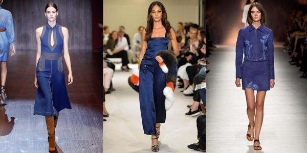 Классический синий цвет: коллекции Gucci, Sonia Rykiel, Blumarine
