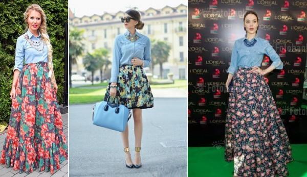Рубашки и юбки в цветочек