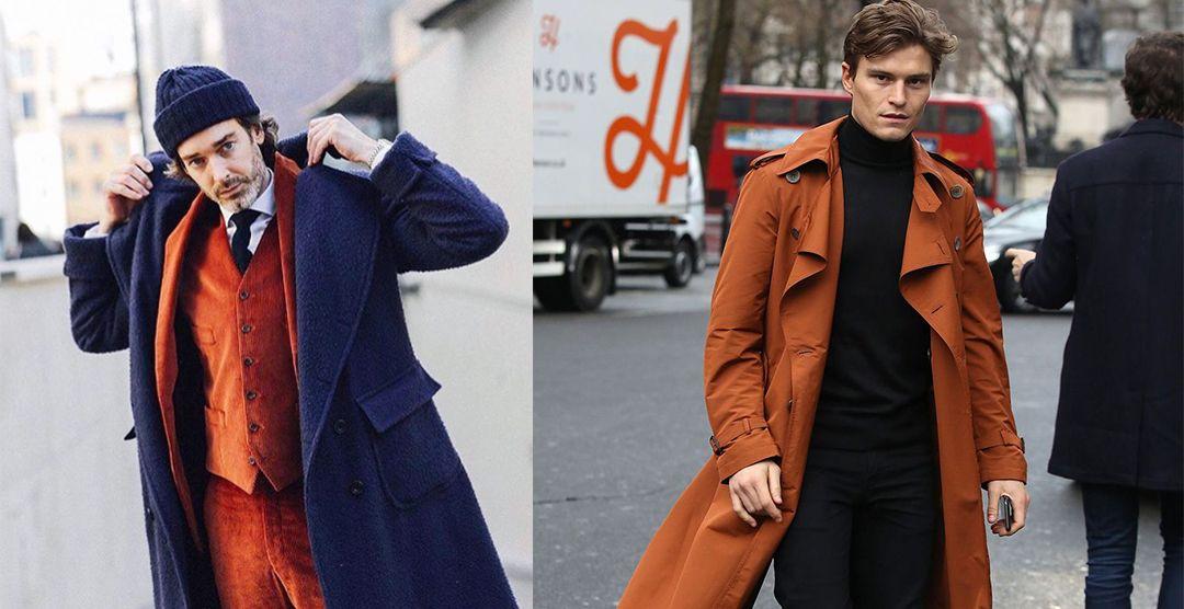 На фото: яркий цвет в мужской моде - уместен!