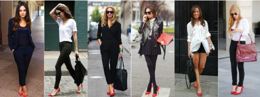 Красные туфли и сапоги: на каблуке, без каблука, лодочки, с чем ...