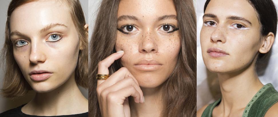 На фото: тренд макияжа 2018 на подводку нижнего века.