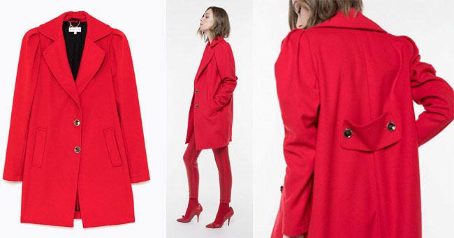 Пальто красного цвета Patrizia Pepe 2018 осень-зима