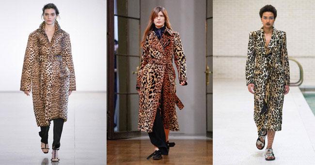 Пальто леопардовое осень-зима 2018-2019 Bevza, Victoria Beckham, Area