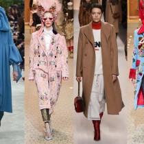 Модные пальто 2018 фото