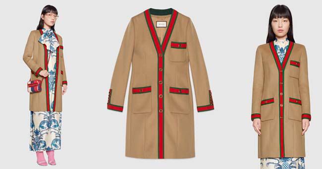 Модное пальто Gucci 2018 фото
