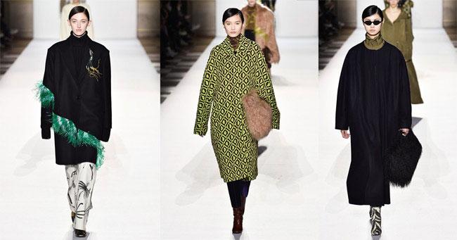 Модные пальто 2018 Dries van Noten