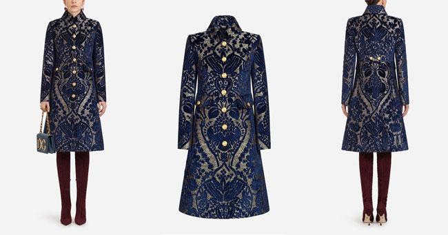 Пальто вечернее Dolce Gabbana осень-зима 2018