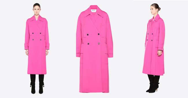 Модное пальто цвета фукскии Valentino осень-зима 2018-2019
