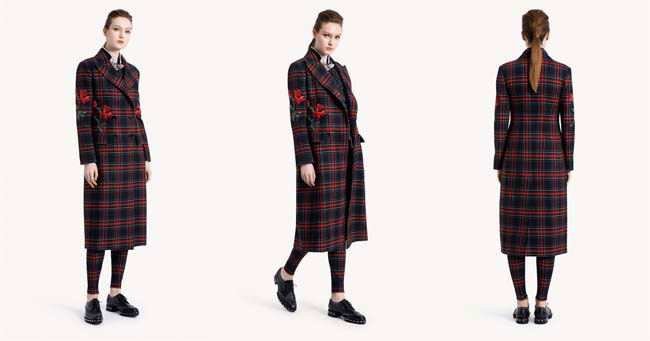 Пальто в шотландскую клетку Ermanno Scervino 2018