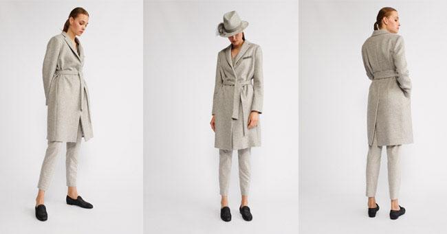 Пальто серого цвета Fabiana Filippi осень-зима 2018-2019