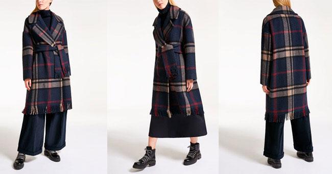 Пальто в клетку 2018 Max Mara